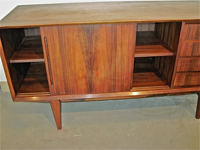 Danish Rosewood Credenza : Danish mid century modern e w bach for sejling rosewood credenza