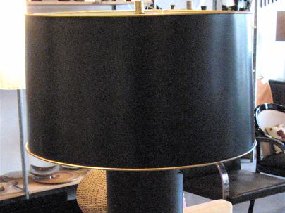Wall Paper Cylinder Table Lamp