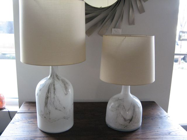 Pair of Holmegaard Encased Glass Table Lamps