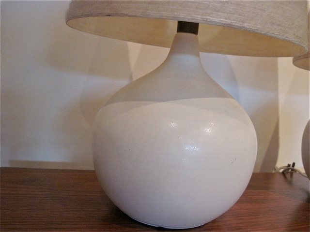 Danish Pair Ceramic Table Lamps