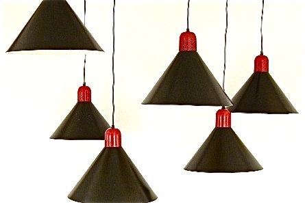 Dansk Red & Black Light Pendants