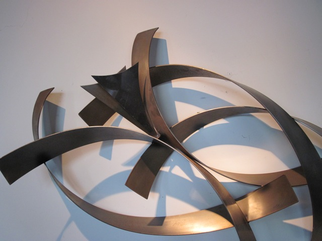curtis jere abstract metal wall sculpture