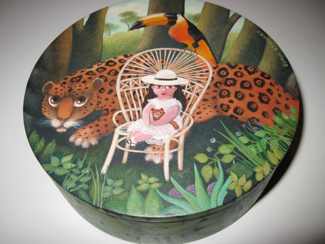 Sonia Etchart Painted Wood Box