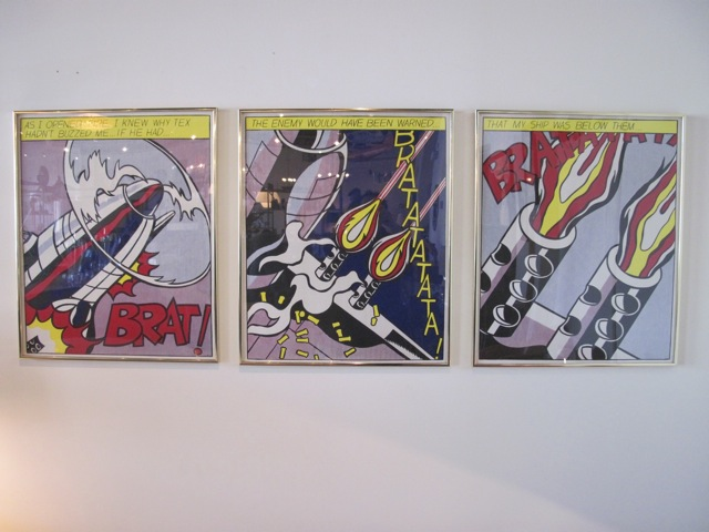 Roy Lichtenstein Triptych <em>As I Opened Fire...</em>