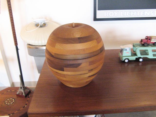 Monumental Hand-Turned Wood Apple