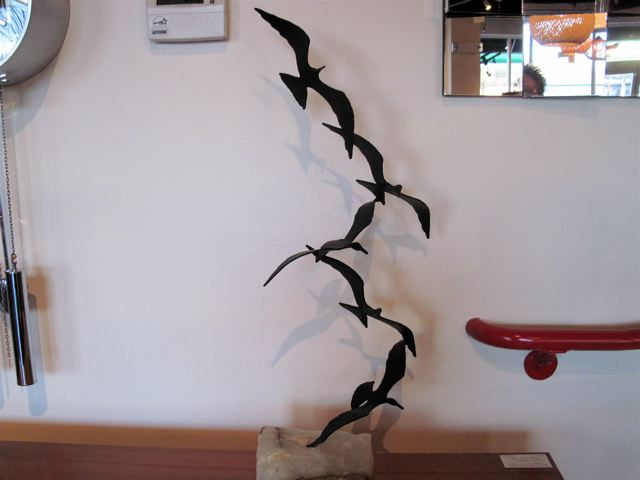 Curtis Jere Birds in Flight Metal Sculpture