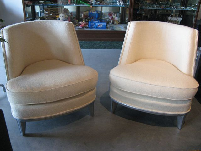 Metro modern pair art deco occasional lounge chairs - Deco lounge eetkamer modern ...