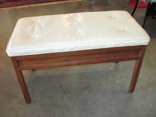 Edward Wormley Leather Storage Bench