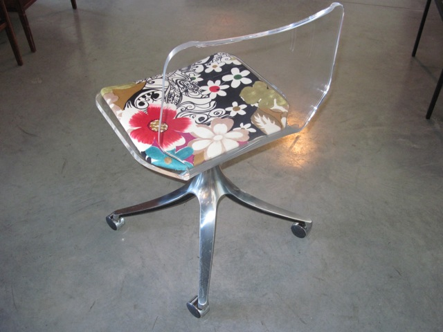 Lucite & Chrome Occasional Chair