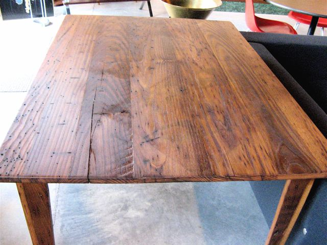 Handcrafted Chestnut Wood Table ...