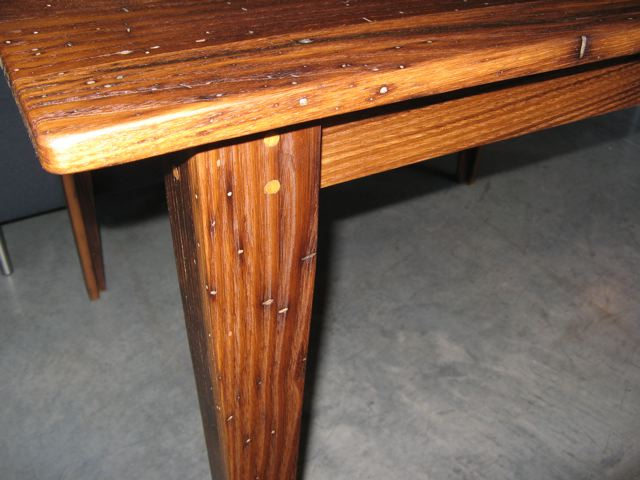 Handcrafted Chestnut Wood Table
