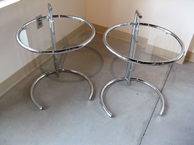Two Eileen Gray Side Tables