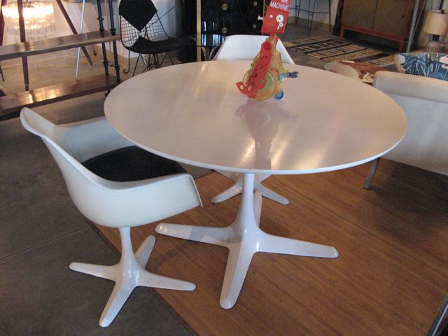 Wonderful Burke Pedestal Table And Two Chairs ...