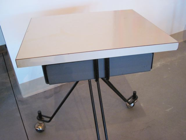 Eliot Noyes Iron & Laminate Side Table