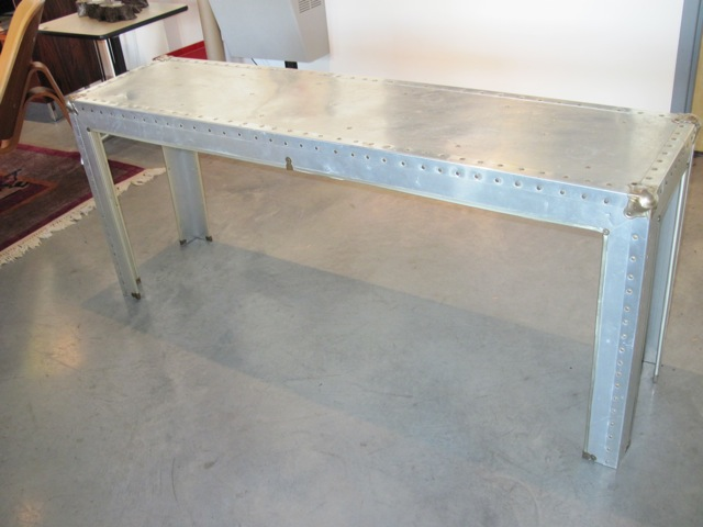 Industrial Artisan Metal Console Table ...