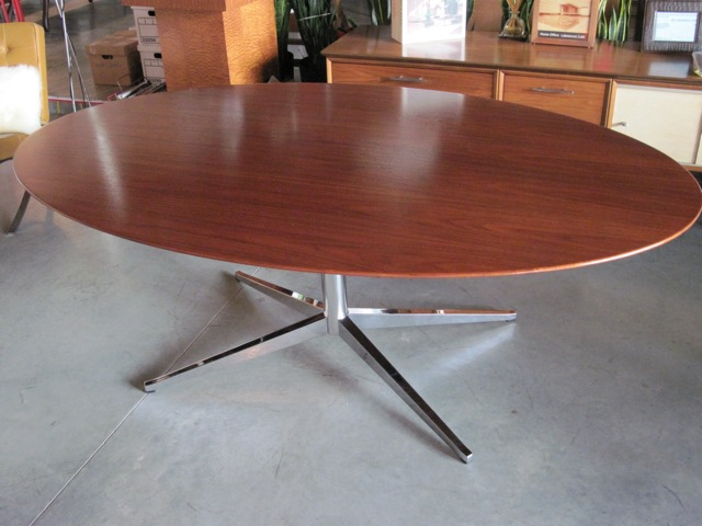 Metro Modern Florence Knoll Mahogany Dining Table