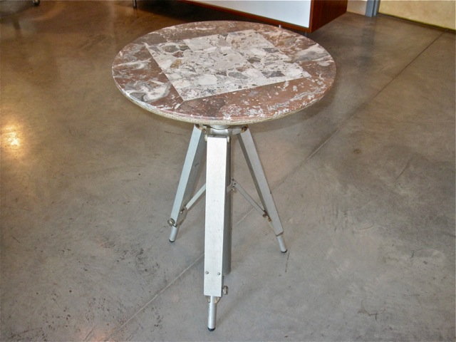 Marble Tripod End Table