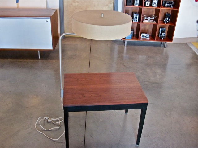 Metro modern george nelson end table wlamp george nelson end table wlamp aloadofball Image collections
