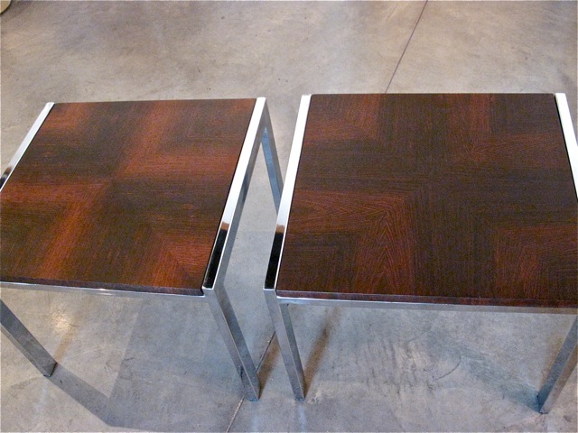 ... Milo Baughman Rosewood U0026 Chrome End Tables