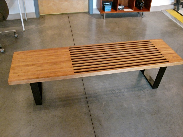 george nelson bench. George Nelson Style Platform Bench, Bench