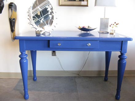 Twilight Blue Lacquer Table