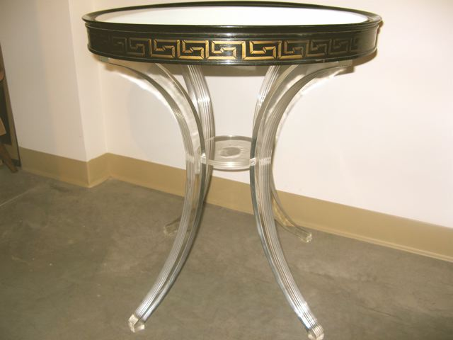 french round lucite table - Lucite Table