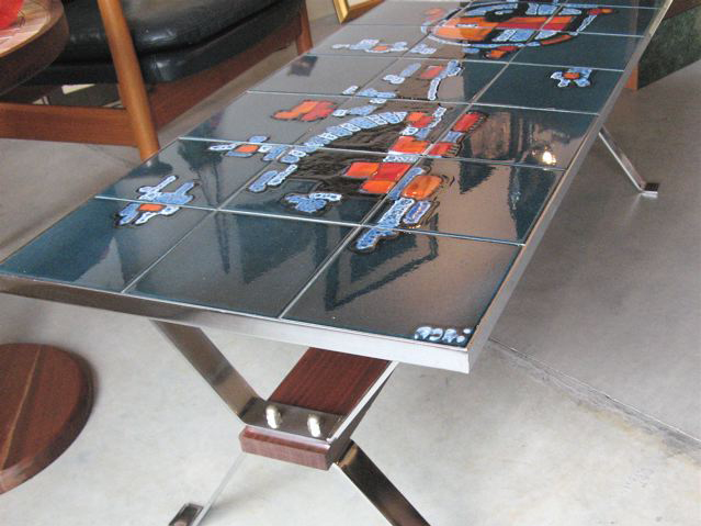 Attractive ... Glazed Art Tile Coffee Table